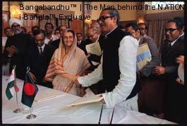 Bangabandhu with Indira Gandhi Dhaka 1972